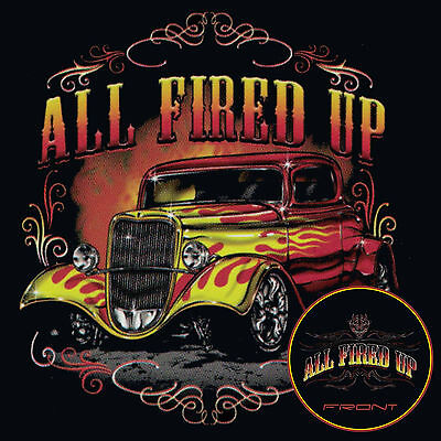 Hot Rod T Shirts Vintage Ford Rat Rod Flames Pinstripes Small to 6X and Tall Vintage Hot Rod