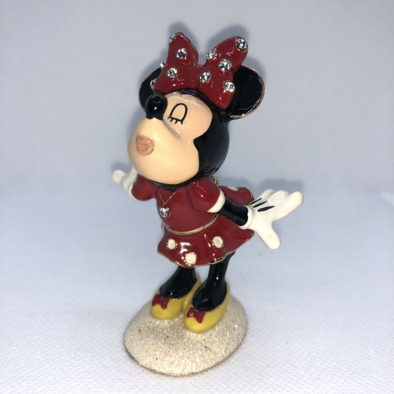 Department 56 - Minnie Mouse Bejeweled Box - Kissing - Disney - 28384