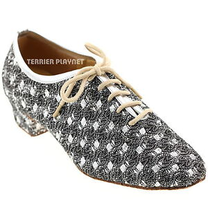 TPS-Silver-Glitter-Latin-Ballroom-Salsa-Custom-made-Dance-Shoes-D282