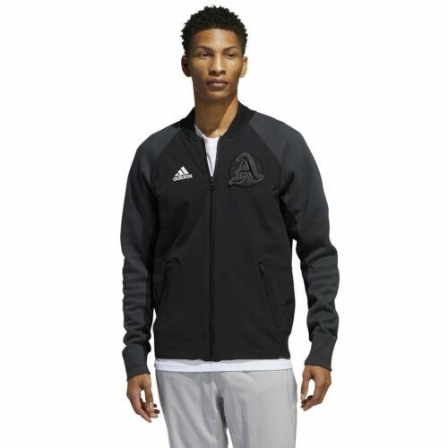 Adidas New York VRCT Tennis Varsity Track Jacket Zip Black Grey Mens Medium NEW