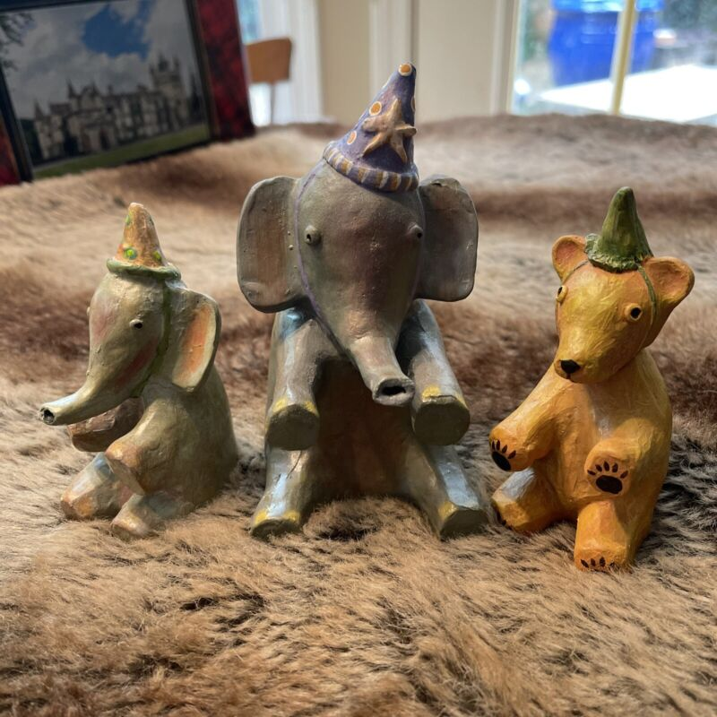2004 Silver Willow Set of 3 Animal party