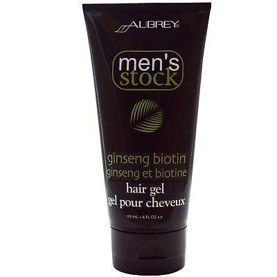 Aubrey Organics, Men's Stock, Hair Gel, Ginseng Biotin, 6 fl oz (177 - Mens Stock Biotin