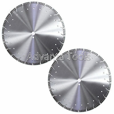 2pk 20 Diamond Saw Blade For Asphalt Concrete Brick Block Pavers Stone - 12mm