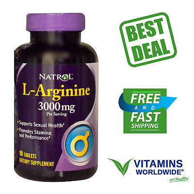 Natrol  L Arginine  3000 Mg  Supports Sexual Health   Erectile Function  90 Tabs