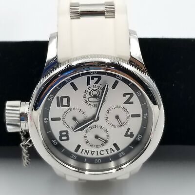 Invicta Mens 1819 Russian Diver Lefty Watch 1959 Special Edition White MOP Dial