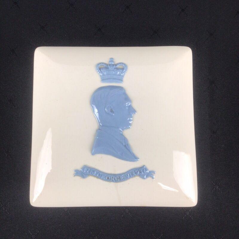 1937 Wedgwood KING GEORGE QUEEN ELIZABETH Coronation Trinket Box