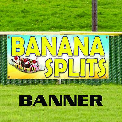 Banana Splits Restaurant Ice-cream Shop Business Advertising Vinyl Banner Sign