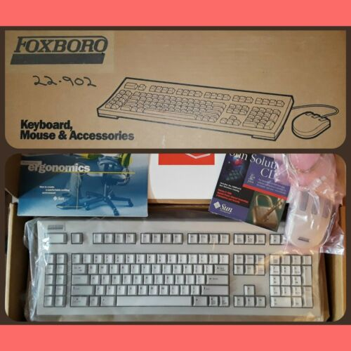 New Old Stock SUN Keyboard Mouse Type 5c SparcStation Vintage Computer Foxboro - $240.00