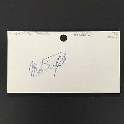 1976-80 HAND SIGNED DETROIT TIGERS MLB *MARK FIDRYCH* JSA (D. 2009)