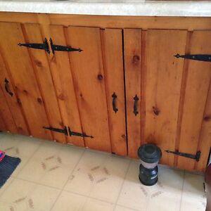 Vintage Pine Cupboard Doors with Rod Iron