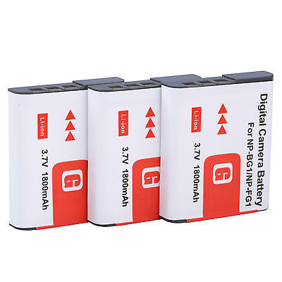 Батареи 3Pcs NP-BG1 Battery For SONY