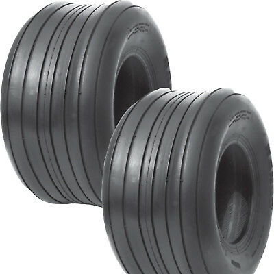 2 15x6.00-6 Hay Tedder Farm Implement Ag Tire Rib 6ply T-l 710 Lb Wt Capacity