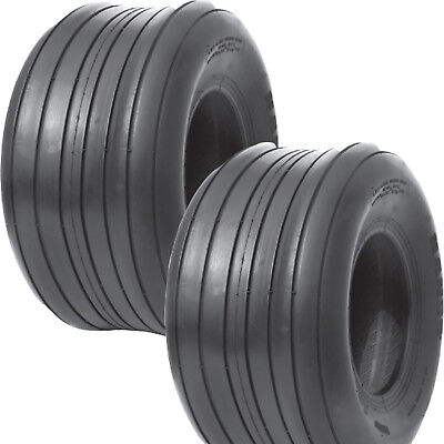 2 15x6.00-6 Hay Tedder Farm Implement Ag Tire Rib 6ply Tl 710 Lb Wt Capacity