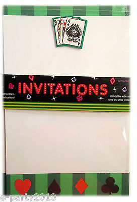 Casino Night Party Invitations (PRINTABLE CASINO INVITATIONS (10) ~ Poker Night Vega Poker Nights Party Supplies )