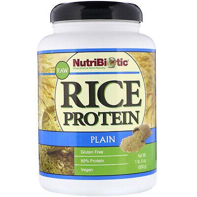 NutriBiotic Raw Rice Protein Plain  1 lb 5 oz 600 g Egg-Free, Gluten-Free, ()