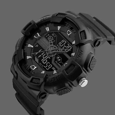 SKMEI Men's Large Dial LED Digital Waterproof Chrono Sports Military Wrist - Large Chrono Watch