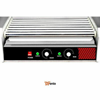 Hot Dog 7 Roller Grill Cooker Machine Stainless Steel Electric Commercial 18 Hot