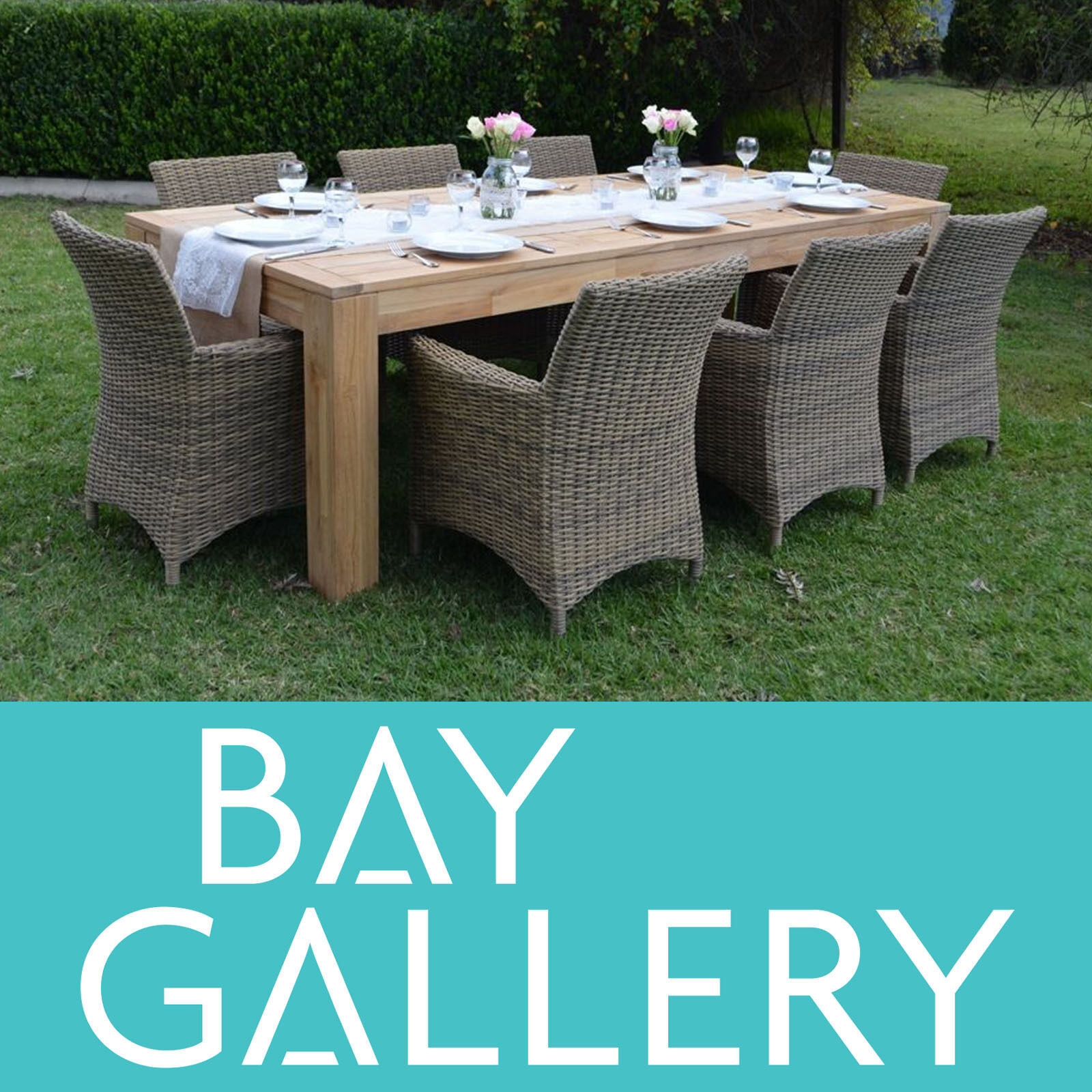 new large teak timber outdoor dining table big wooden