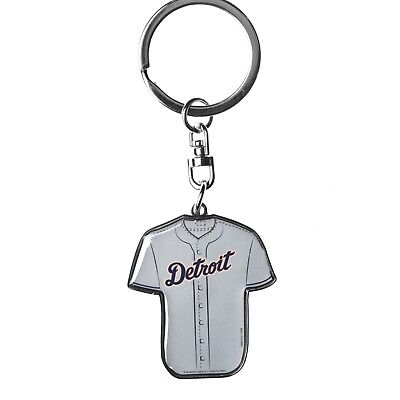 Detroit Tigers MLB Metal Home/Away Jersey Double Sided Keychain FREE SHIP
