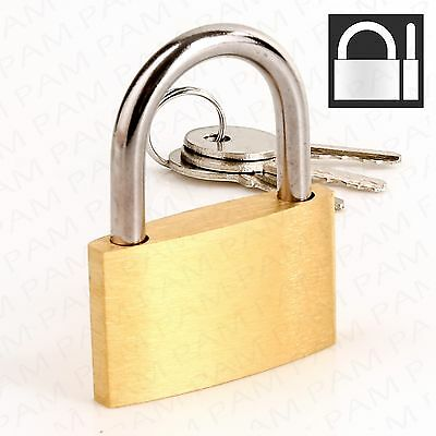 40mm KEYED ALIKE SOLID BRASS PADLOCK Same Keys Security Lock 2 3 4 5 6 7 8 9 10+