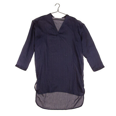 RRP €370 ISABEL BENENATO Top Size 42 Silk Blend Dipped Hem V Neck Made in Italy