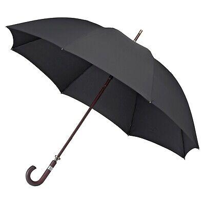 Men's Walking Golf Umbrella Wood Shaft Crook Handle Fibreglass Windproof - -