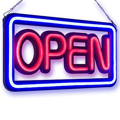 Modern Horizontal Neon Open Sign Light Opensign Reataurant Business Bar Bright