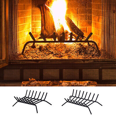 Steel Log Firewood Rack Holder for Fireplace Indoor Firepit -