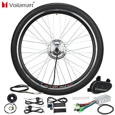"36V 250W 26"" Front Wheel Electric Bicycle Conversion Kit Speed Hub Motor Cycling"