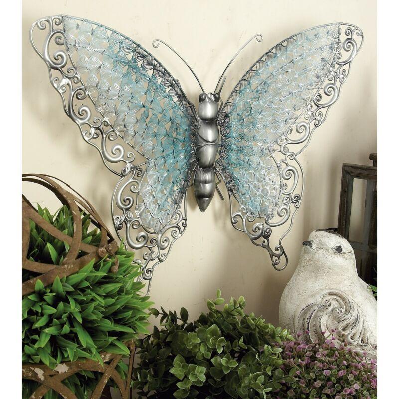 Copper Grove Iris Blue Metal Butterfly Silver