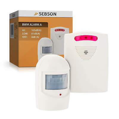 Alarm Alarmanlage (Alarm mit Bewegungsmelder, Alarmanlage Sensor Empfänger, Außen, drahtlos SEBSON)