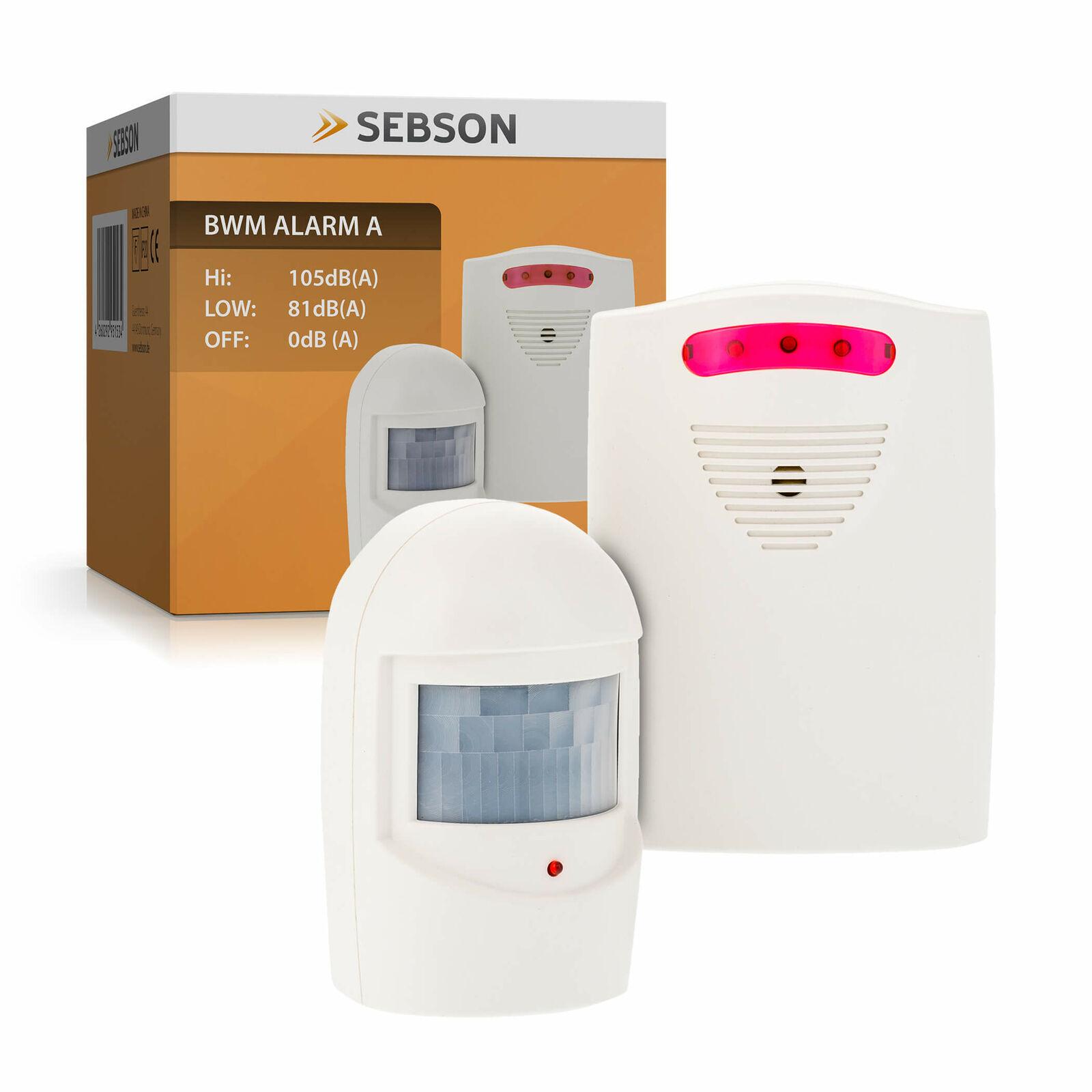 Alarm mit Bewegungsmelder, Alarmanlage Sensor Empfänger, Außen, drahtlos SEBSON