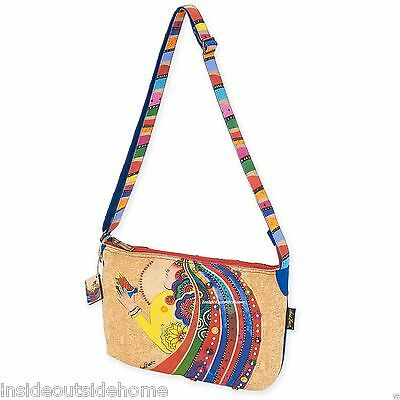 Laurel Burch Medium Lg Crossbody Rose w Bird Tote Bag Woman Spirit New Retired