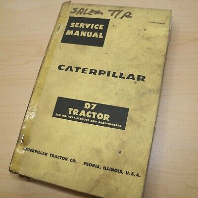 Cat Caterpillar D7 Tractor Repair Shop Service Manual Crawler 47a Series Book