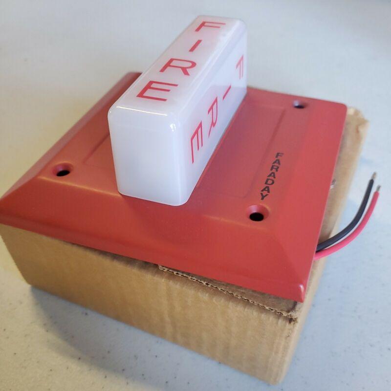 QTY. 1 FARADAY FLUSH FIRE INDICATOR PLATE 24VDC 4.5CD