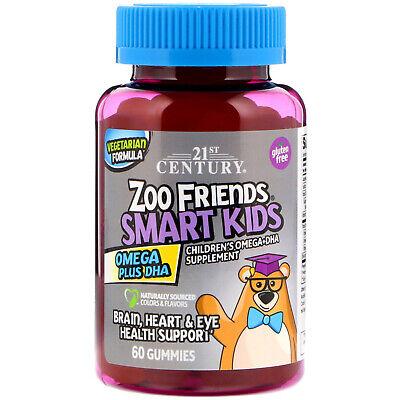 Zoo Friends, Smart Kids, Omega Plus DHA, 60 Gummies