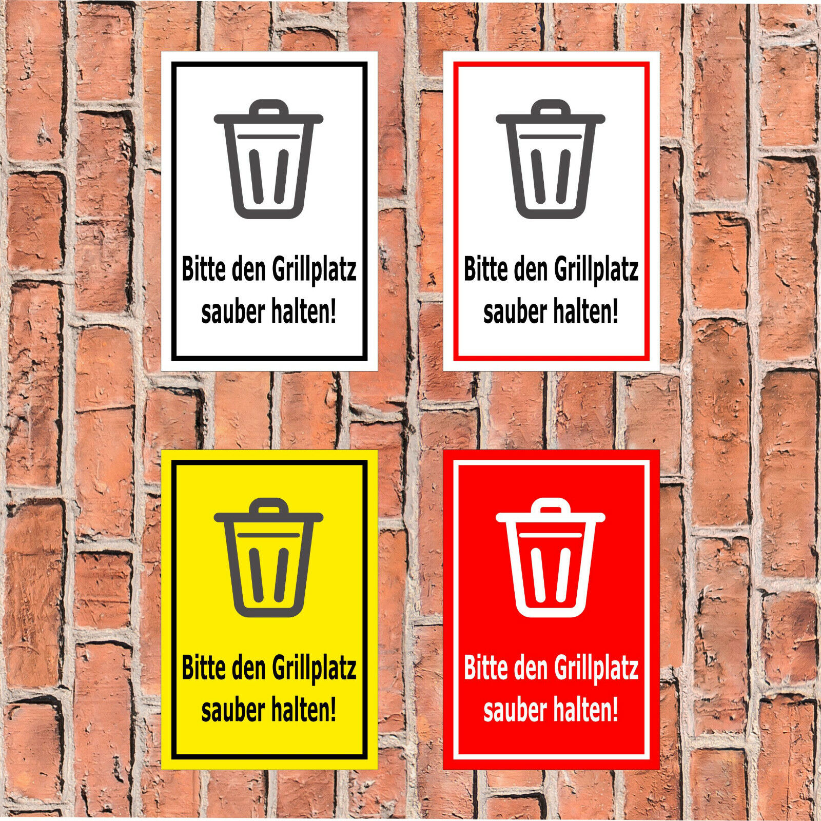 Schild Bitte den Grillplatz sauber halten! - in 4 Größen - S359-019