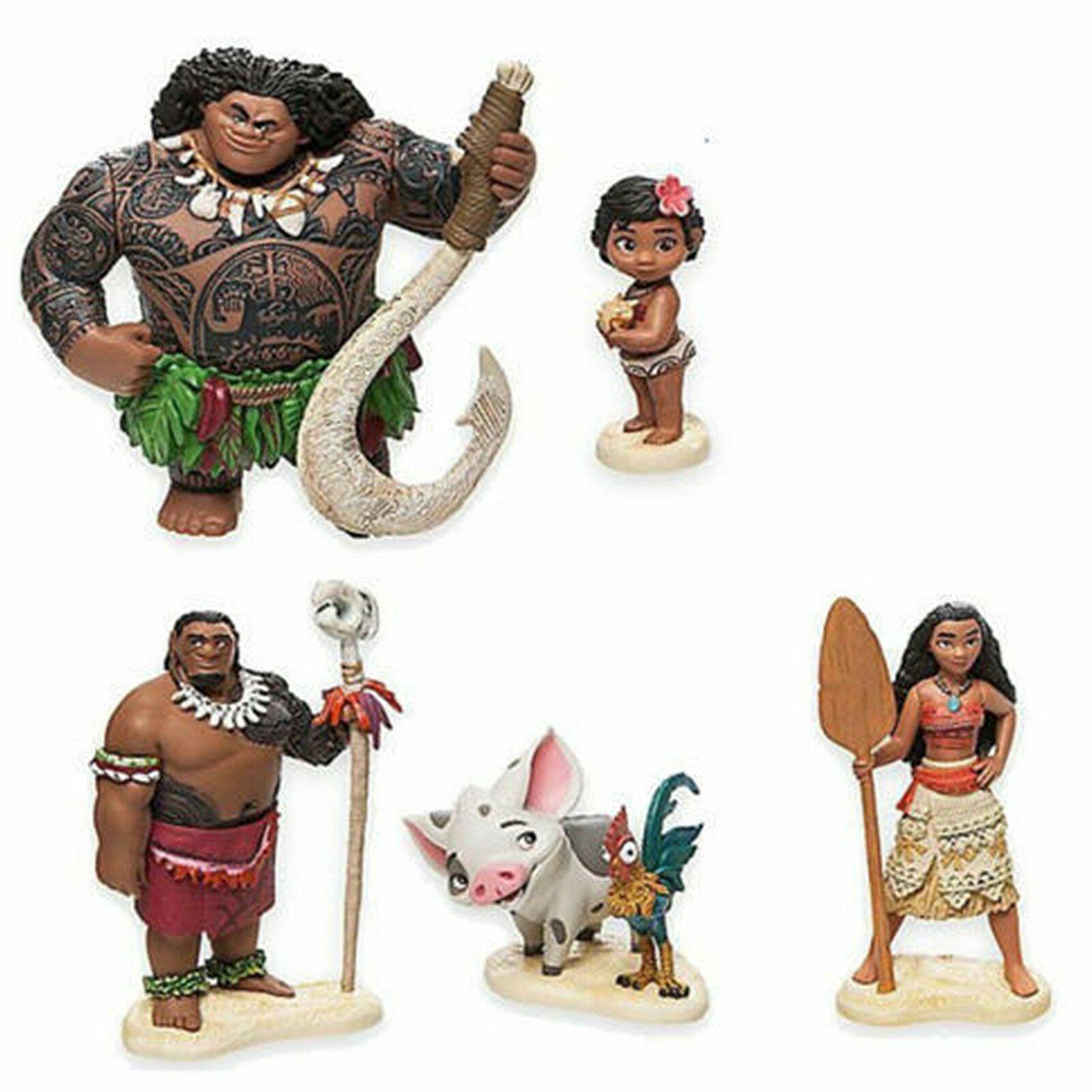 Vaiana die Legende das Ende der Welt Moana Maui Hei Hei 6er-Set Figuren