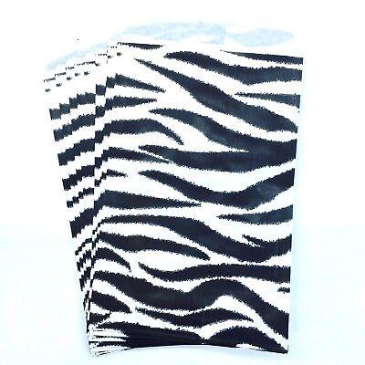 500 4x6 Inch Zebra Print Paper Merchandise Bags.