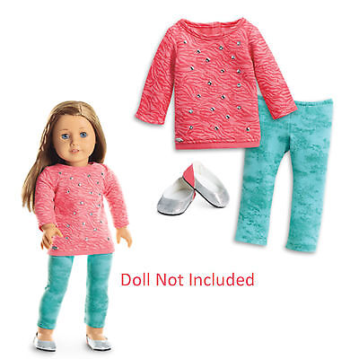 """American Girl TRULY ME COOL CORAL OUTFIT for 18"""" Dolls Clothes Shirt NEW"""