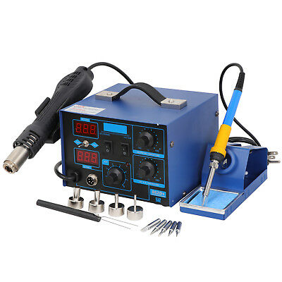 Great 2-1 862d Smd Soldering Iron Hot Air Rework Station Led Display 4 Nozzle