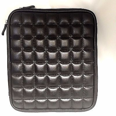 """Buxton 10.2"""" Black Quilted Laptop Case Bag. Fits up to 10.2"""" Netbook. OM89L102BK"""