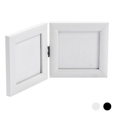 Double Photo Frame (Double Photo Frame Picture Frames Folding Standing Hinged White)