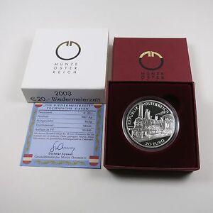 Osterreich-20-Euro-2003-Silber-PP-Biedermeierzeit