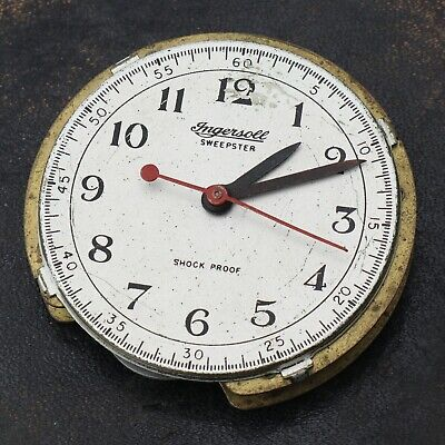 INGERSOLL SWEEPSTER MECHANICAL POCKET WATCH MOVEMENT PARTS REPAIRS SPARES