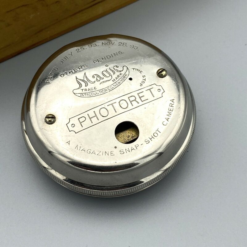 Photoret Pocket Watch Camera With Box Excellent (READ)