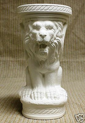 Ceramic Bisque Lion Column Pedestal Scioto Mold 2992 U-Paint Ready To Paint ()