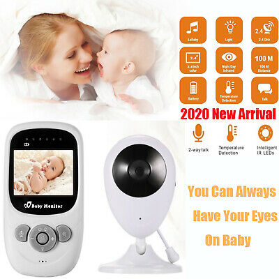 "2.4"" Two Way Audio Baby Monitor Video Wireless Digital LCD Camera Night Vision"