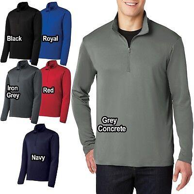 Big Mens 1/4 Zip Wind Shirt Lightweight Performance Pullover Jacket XL 2X 3X 4X 1/4 Zip Windshirt