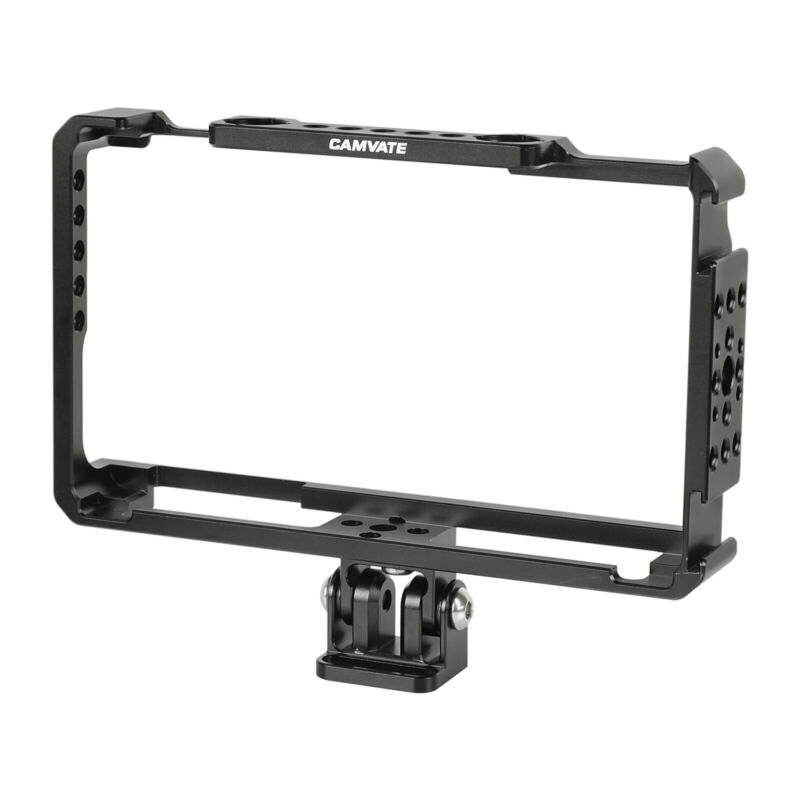 """CAMVATE Hard FeelWorld LUT6 & LUTS6 6"""" Monitor Cage With Monitor Support Holder"""